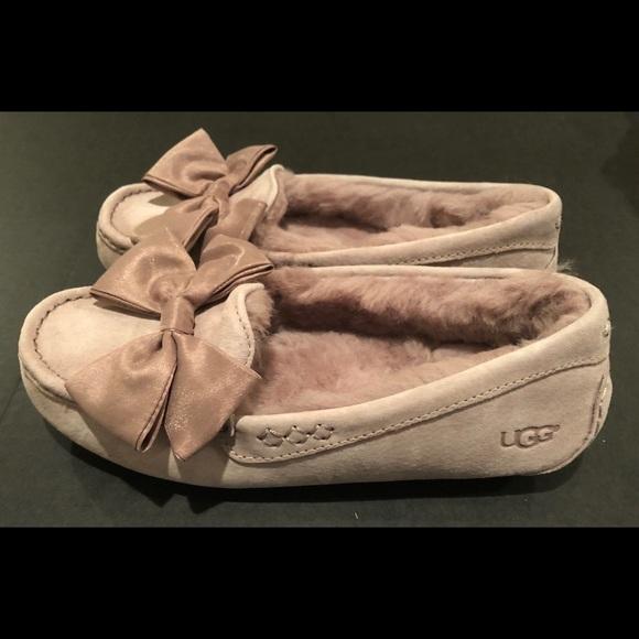 ea785867a76 Ugg Clara glam bow slipper moccasins dusk sz 8 nib NWT
